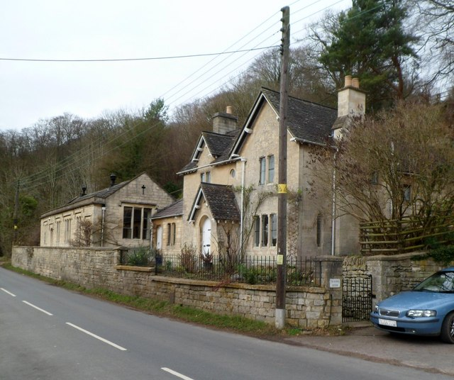 Grade II listed former school and schoolhouse, Slad