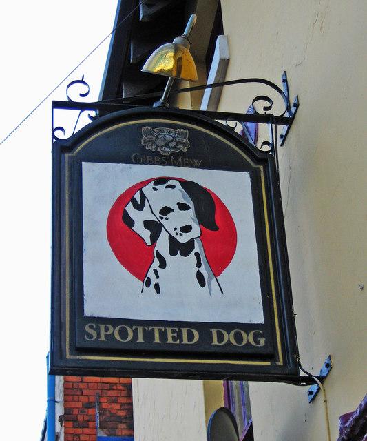 The Spotted Dog (3) - sign, Meriden Street, Digbeth, Birmingham