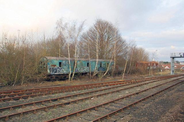 Abandoned parcels van at Bletchley Depot