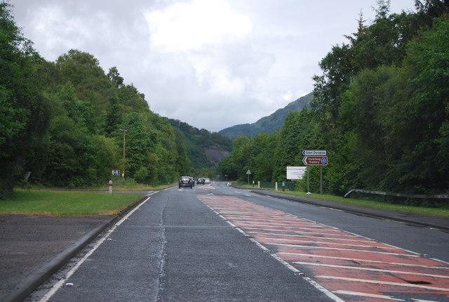 Glen Douglas turn off, A82