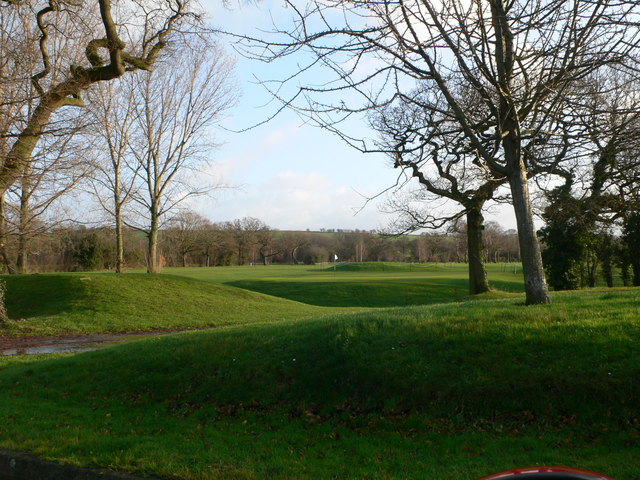 The greens at Helsby Golf Club