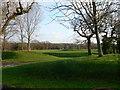 SJ4873 : The greens at Helsby Golf Club by Eirian Evans