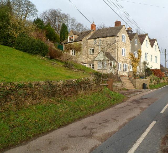 Row of three houses, Slad