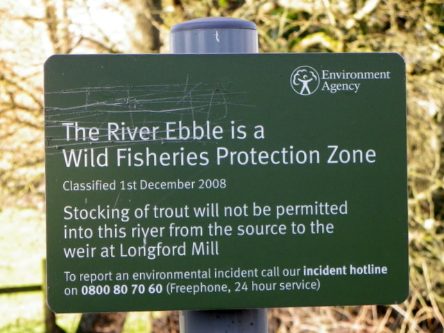 Sign by the River Ebble, Homington
