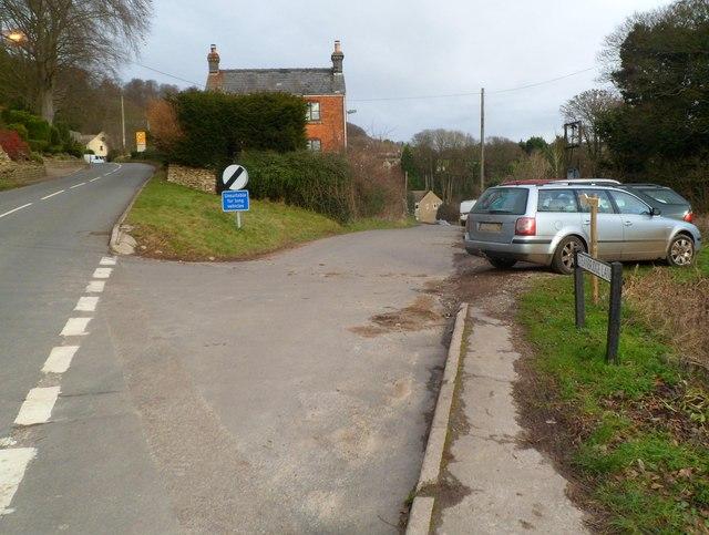 Steanbridge Lane, Slad, unsuitable for long vehicles