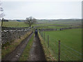 SD7875 : Footpath heading to the Ribble and High Birkwith by Karl and Ali