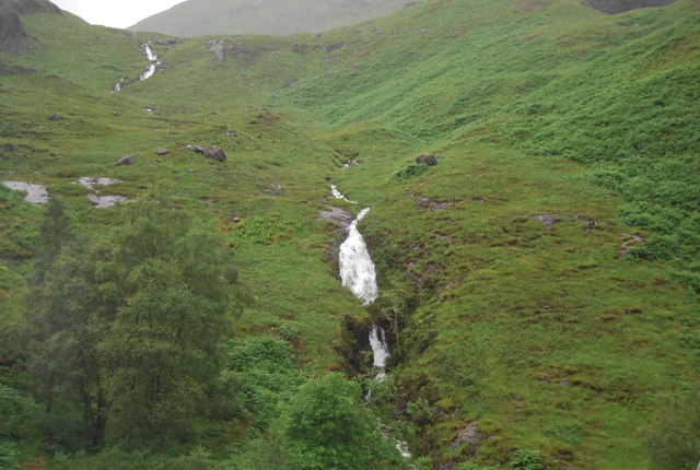 Small waterfall above Lairig Eilde Waterfall