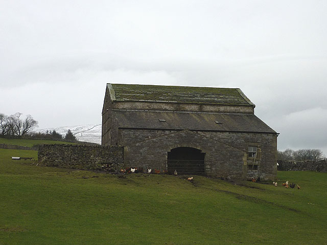 Barn between Moss and Drain Mires Lanes, Selside