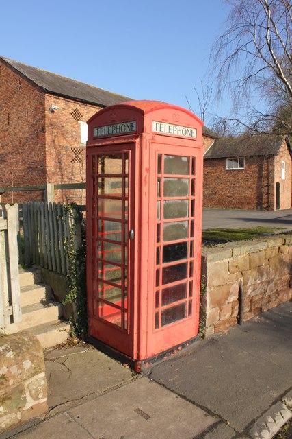 Type K5 Telephone Kiosk in Aldford
