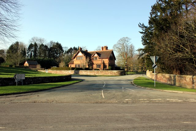 Road Junction in Aldford