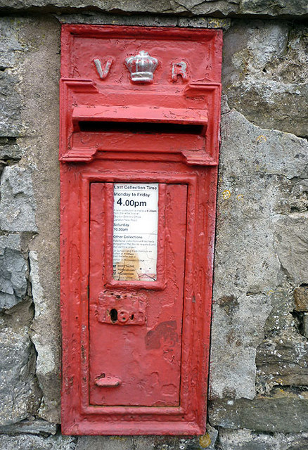 The Victorian postbox at Selside