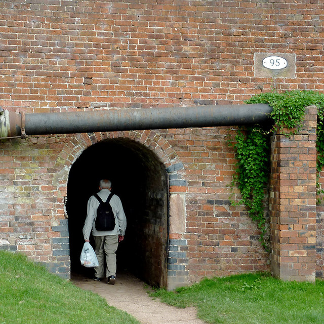 Horse tunnel by the canal at Stone, Staffordshire