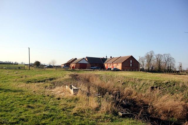Leahall Farm from Lea Lane