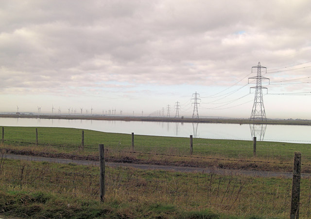 Gravel pits, pylons and windmills