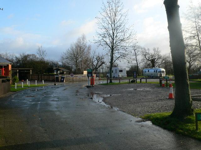 Entrance to Luttle Stanney Caravan Club site