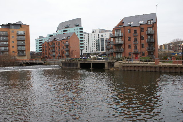 Adel Beck outflow to River Aire, Leeds