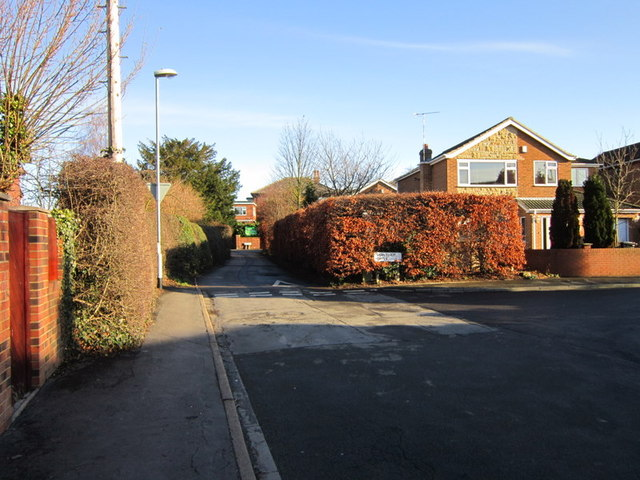 Lowther Road at Lowther Drive, Garforth