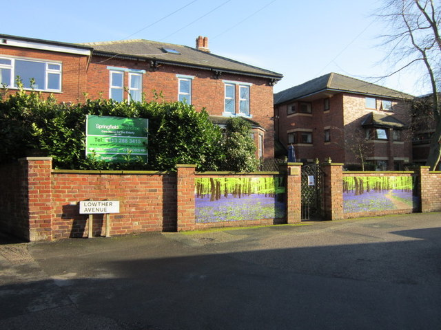 Spingfield Carehome from Lowther Avenue