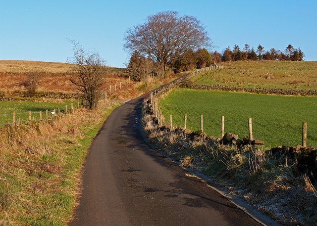 Minor Road leading to Hill of Barnaigh