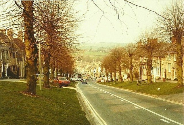 The Hill (A361), Burford in 1984