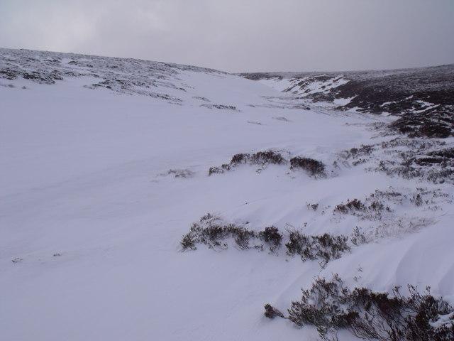 Snow-banked Caochan Odhar east of Bynack More