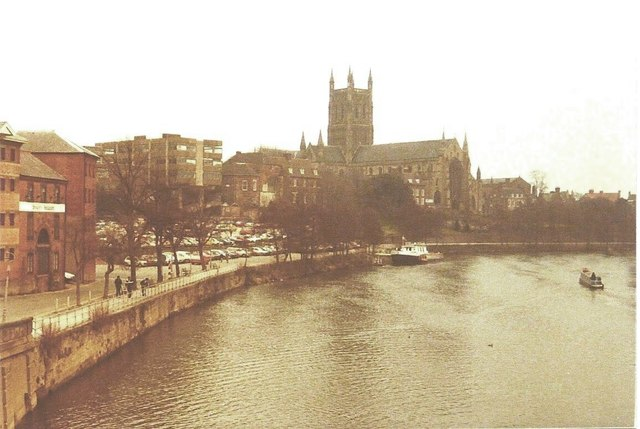 Worcester Cathedral in 1984