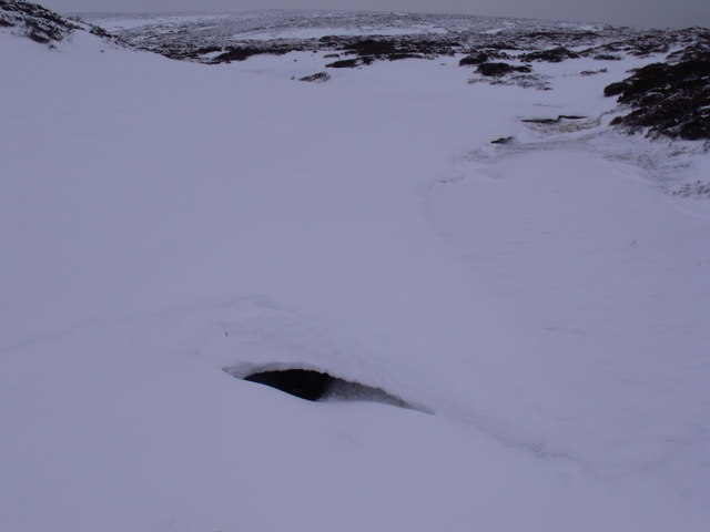 A peephole into the water of Caochan Odhar east of Bynack More