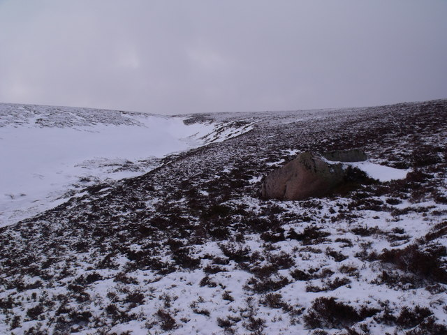 Boulder on slopes south-east of An Lurg near Glenmore