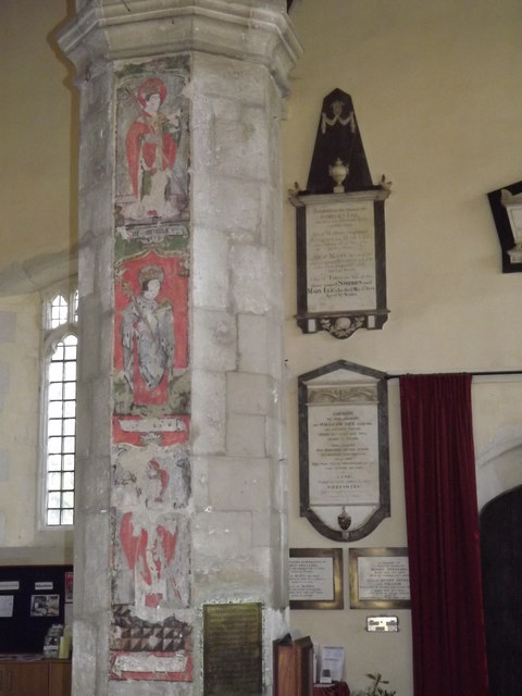 Painted Column, Alton Church