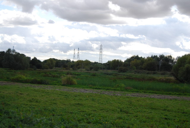 Pylons by the railway line