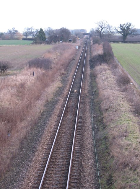 Harrogate to York railway line