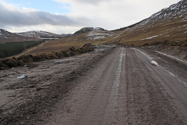 Access road for Beauly - Denny power line construction