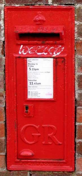 PO letter box LE13 88