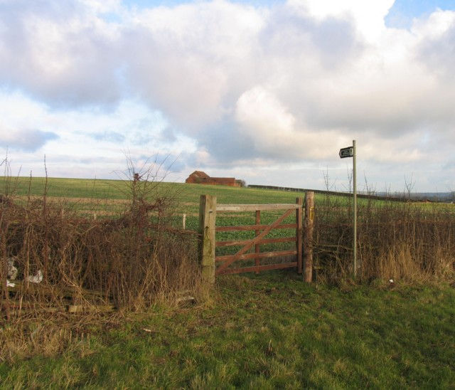 Gate to bridleway