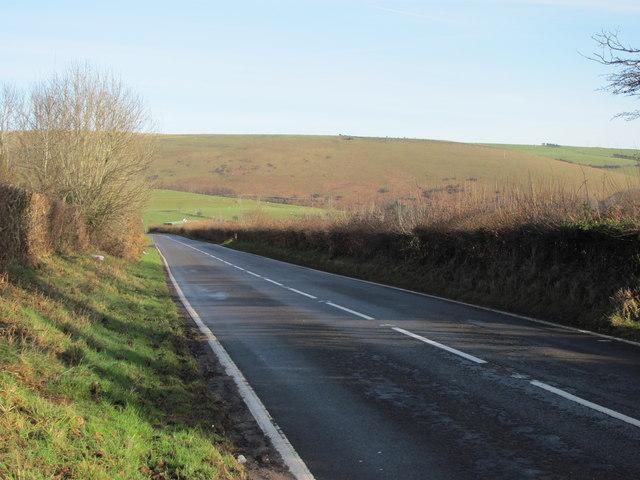 Road heading north of Bettws