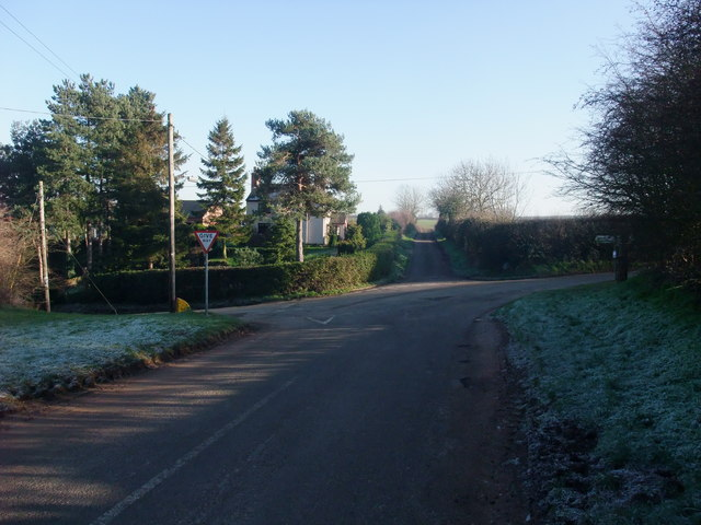 The crossroads at Dale Cottage