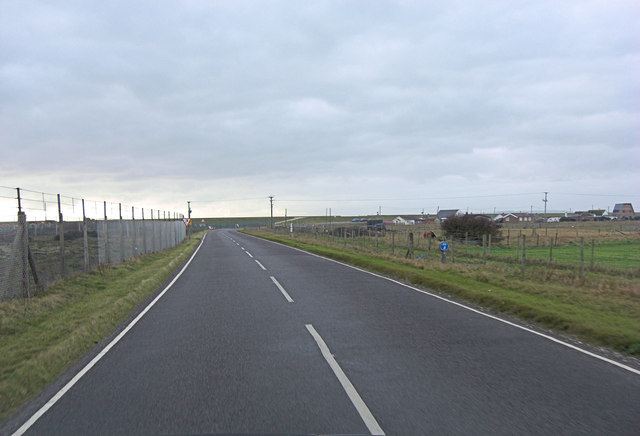Jury's Gap Road north of the Coastguard Cottages