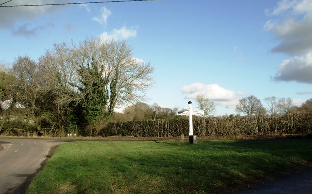 Direction signboards near Dallington, East Sussex