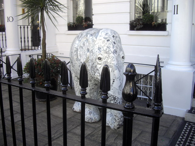 Indian Elephant in Sumner Place, London