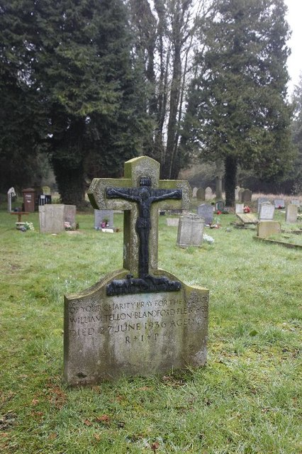 Crucifix  on the headstone