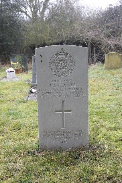 Lieutenant J.A.Glover