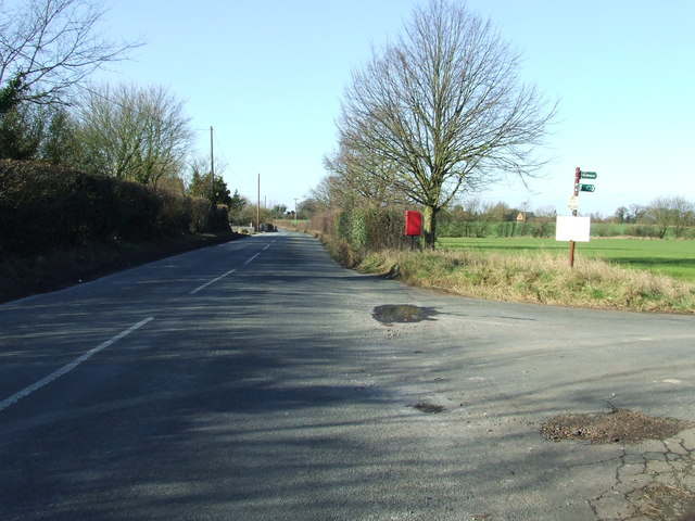 Country Road And Bridleway