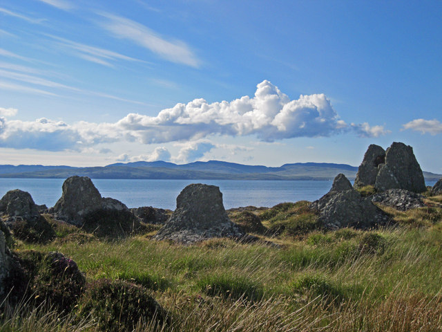 Rock formations on Rubha na Cille