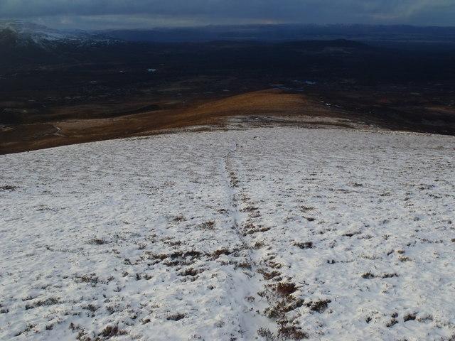 Pathline on north shoulder of An Lurg near Glenmore