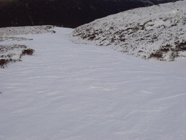 Snow-drift in re-entrant on An Lurg near Glenmore