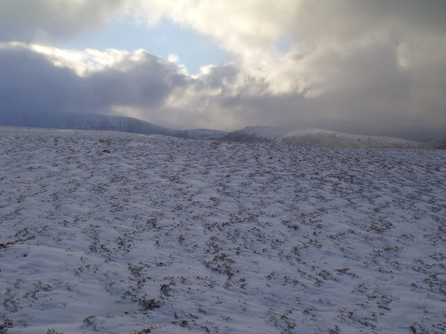 North shoulder of An Lurg near Glenmore
