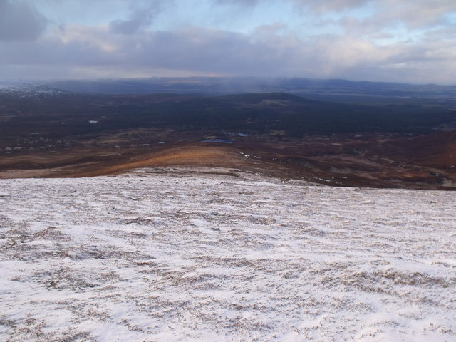 The north shoulder of An Lurg near Glenmore