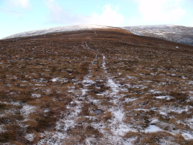Track heading up An Lurg's north shoulder