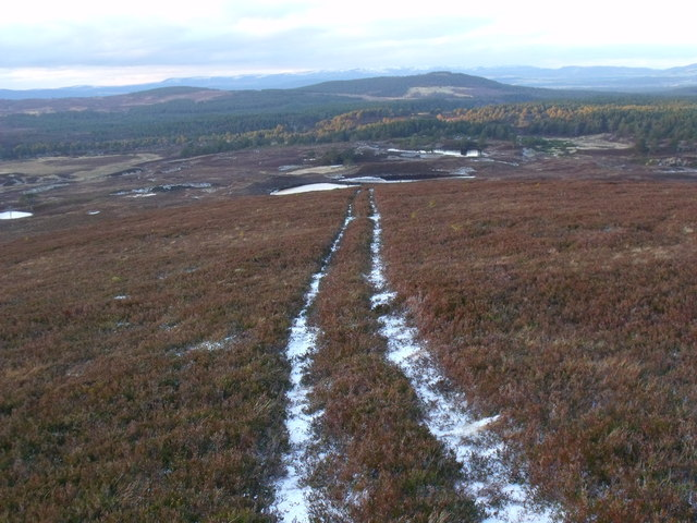 Track on lower part of An Lurg's north shoulder near Glenmore