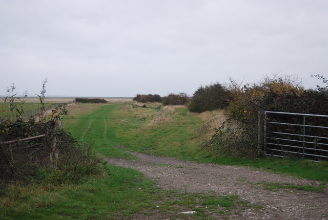 Footpath heading east across St Mary's Marshes